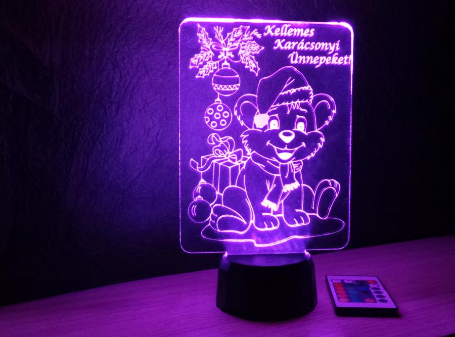 kutyusos karácsonyi lámpa egyedi ajándék love and lights
