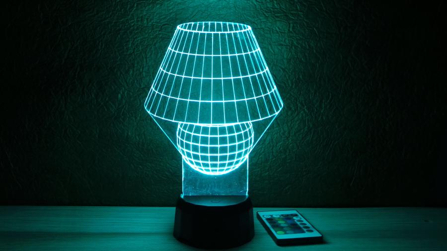 Különleges lámpa mintájú 3D illúzió lámpa - egyedi ajándékötlet - tökéletes éjjeli lámpa