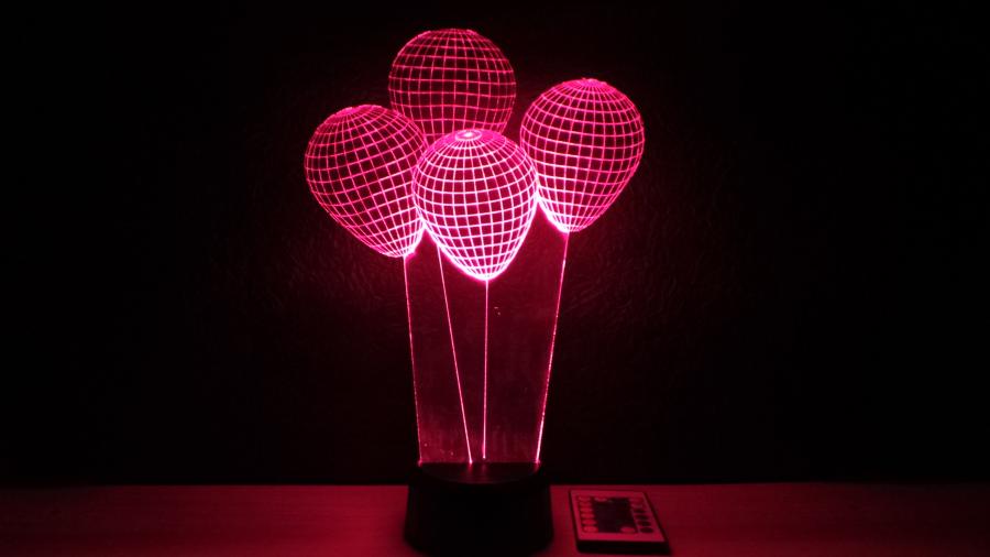 Lufi mintás 3D illúzió lámpa - egyedi ajándékötlet születésnapra