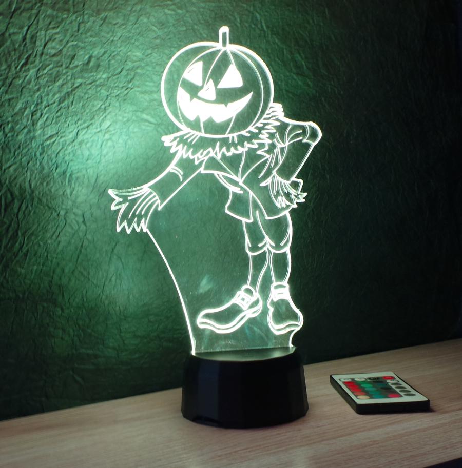 madárijesztő mintás halloweeni 3d illúzió lámpa love and lights