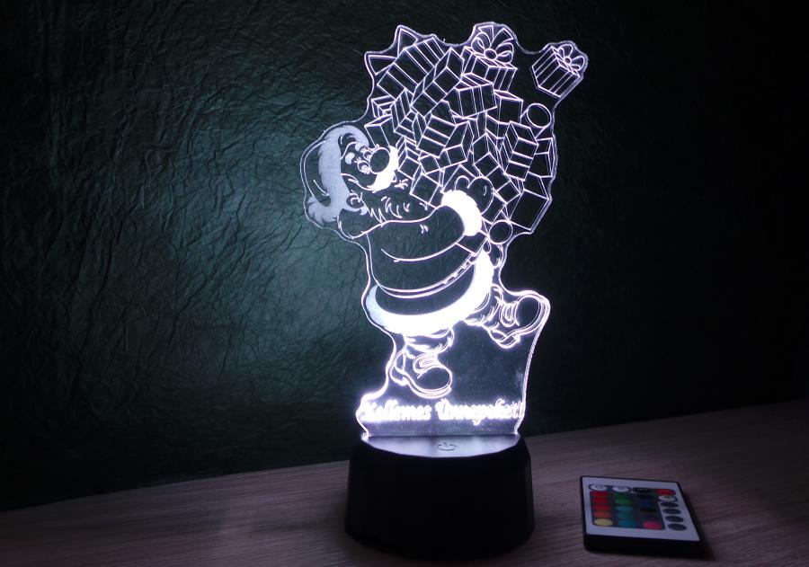 Mikulás ajándékokkal mintás lámpa egyedi ajándékok Love and Lights