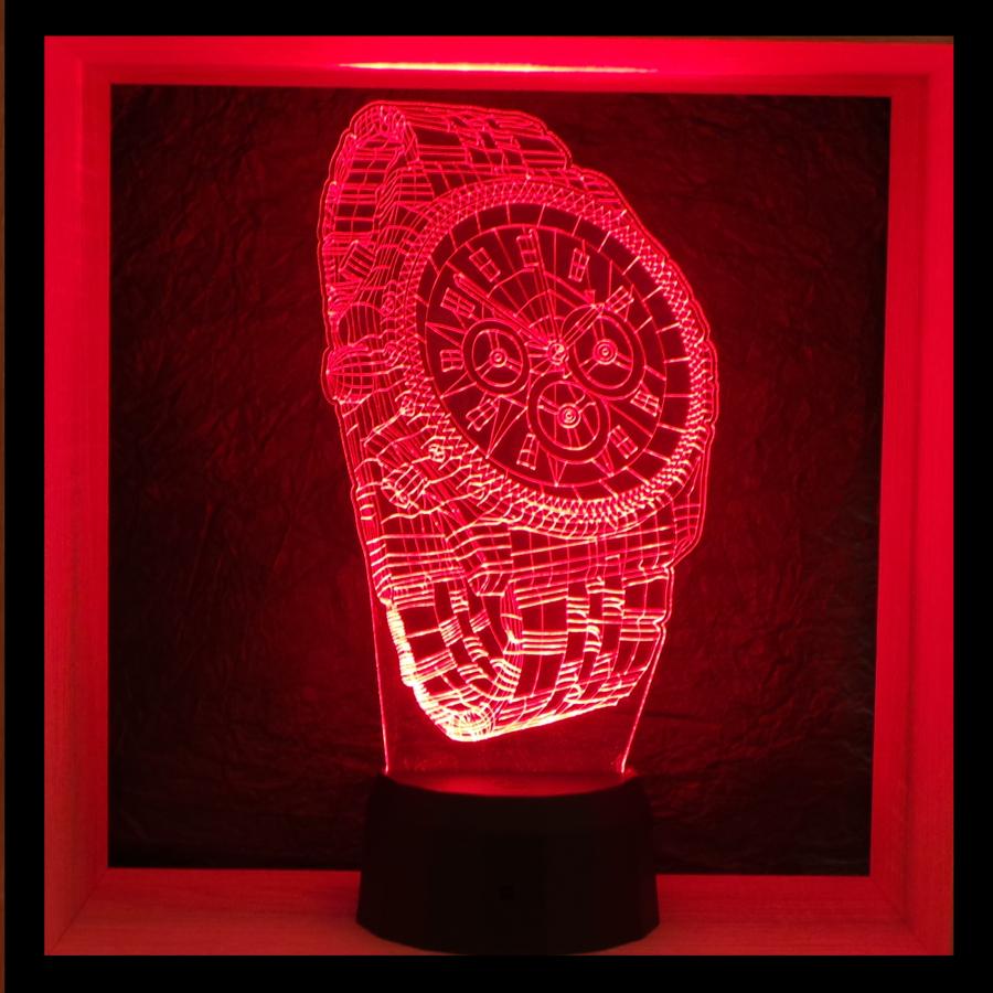 Karóra mintás 3d illúzió lámpa - egyedi ajándékok boltja - love and lights