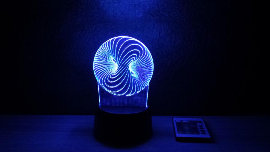 Spirál mintás 3D illúzió lámpa - különleges ajándék gyermekeknek és felnőtteknek egyaránt