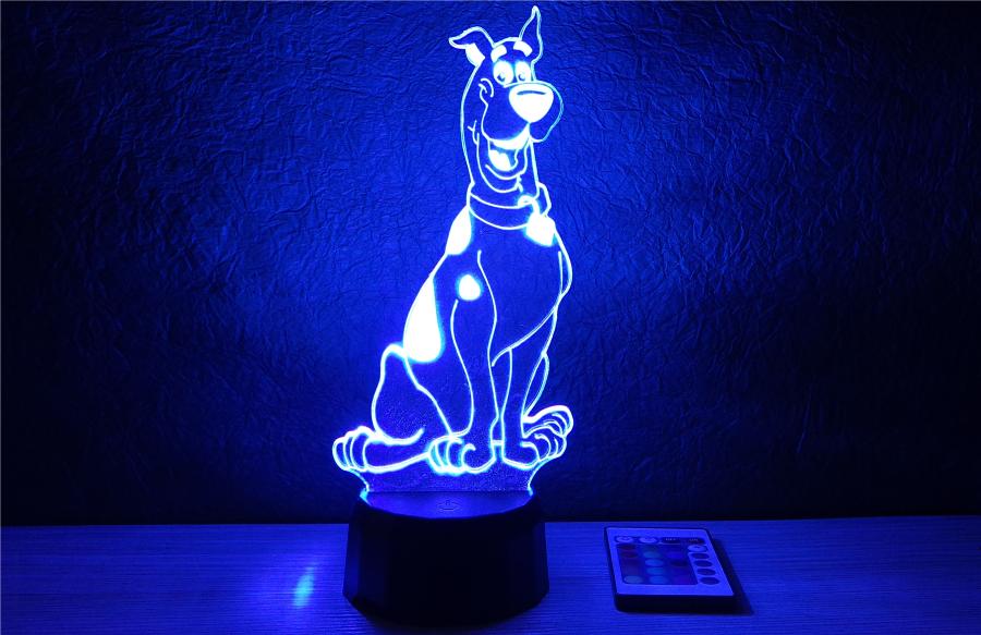 dán dog mintás 3d illúzió lámpa egyedi ajándék love and lights
