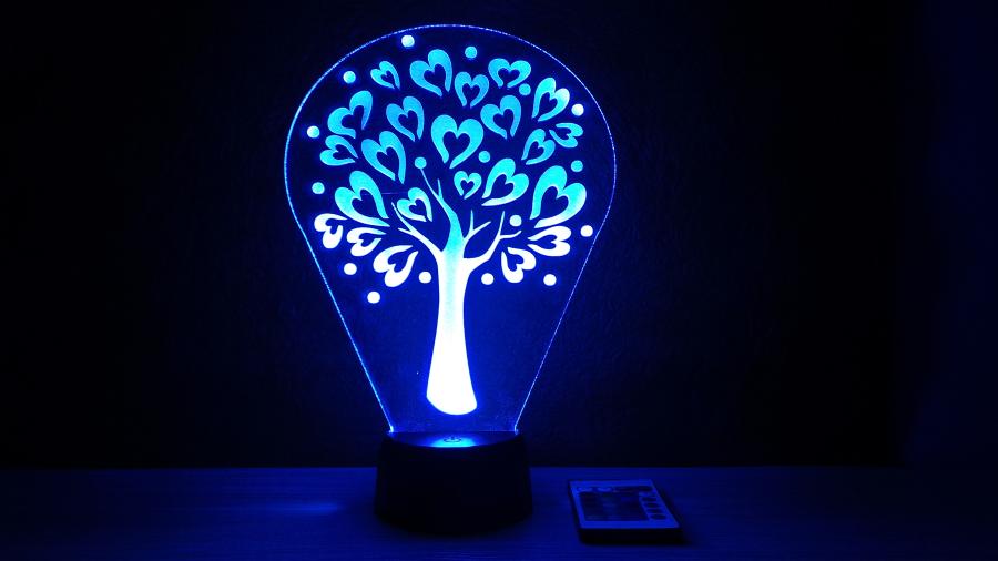 Szívecskés fa mintás lámpa L&L