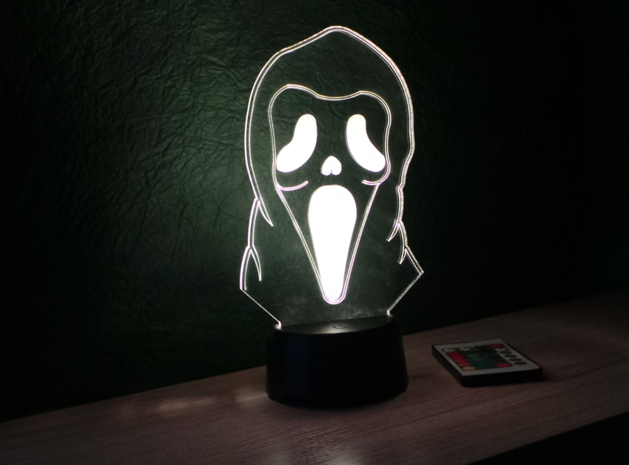 sikoltó arc mintás 3d illúzió lámpa egyedi dekoráció love and lights
