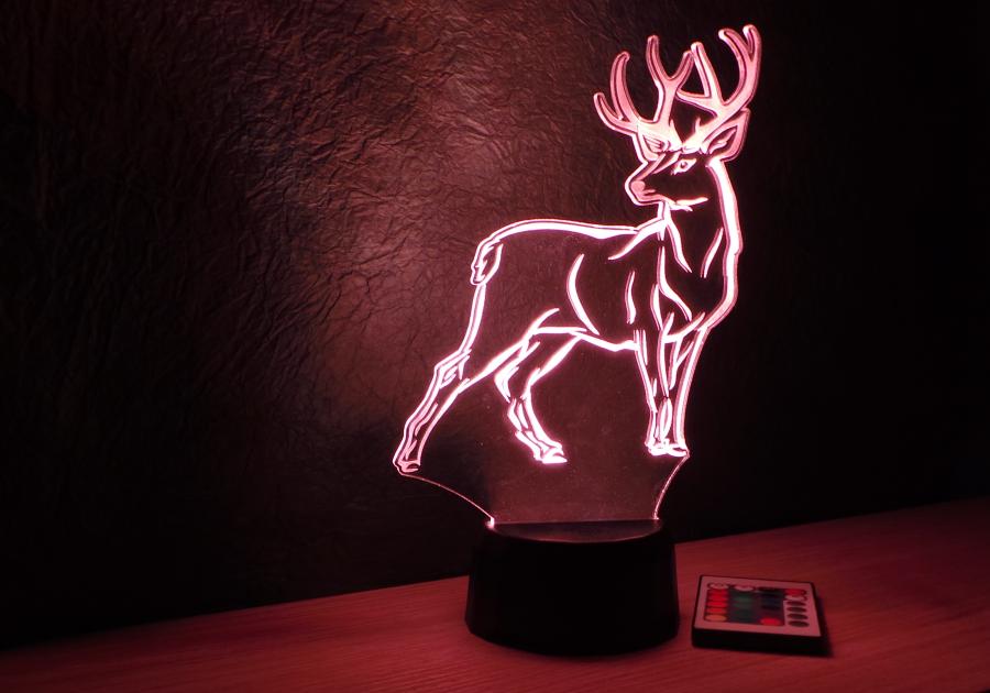 Szarvas mintás karácsonyi lámpa egyedi ajándék Love and Lights