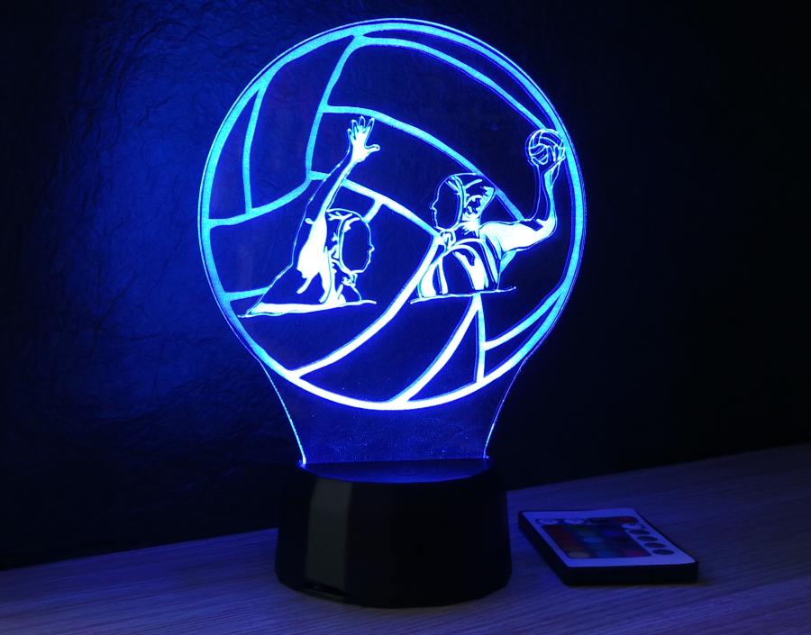 Vízilabdázók kérhető felirattal egyedi ajánék 3d illúzió lámpa Love and Lights